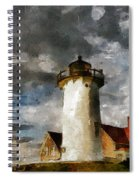 Light House In A Storm Spiral Notebook