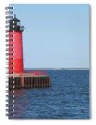 Light House Lake Michigan Spiral Notebook