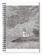 Light House On San Juan Island Lime Point Lighthouse Spiral Notebook
