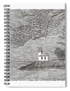 Light House On San Juan Island Lime Point Lighthouse Spiral Notebook