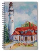 Light House, Wisconsin  Spiral Notebook