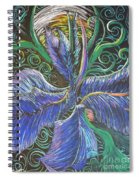 Light Into The Bloom Spiral Notebook