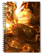 Light Kissing The Dark Spiral Notebook