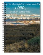 Light Of The Lord Spiral Notebook