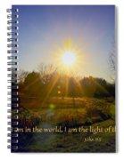Light Of The World Spiral Notebook