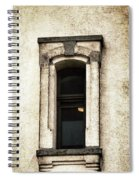 Light On In  Lighthouse Window Spiral Notebook