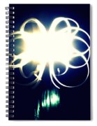 Light Painting Flower Spiral Notebook