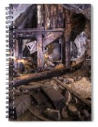 Light Painting In A Gold Mine 2 Spiral Notebook