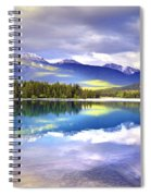 Light Play At Lake Annette Spiral Notebook