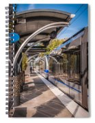 Light Rail Train System In Downtown Charlotte Nc Spiral Notebook