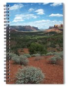 Light Shines On Cathedral Rock Spiral Notebook
