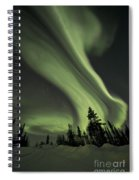 Light Swirls Over The Midnight Dome Spiral Notebook