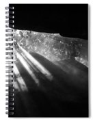 Light Through Mist In Cave Spiral Notebook