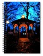 Lighted Gazebo Sunset Park Spiral Notebook