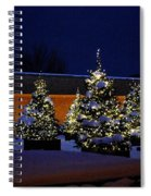 Lighted Trees With Snow Spiral Notebook