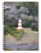 Lighthouse Aerial Near Jekyll Island Spiral Notebook