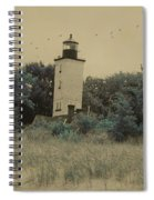 Erie Lighthouse Among The Trees Spiral Notebook