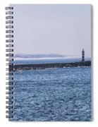 Lighthouse And A Sailing Boat Spiral Notebook