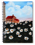 Lighthouse And Daisies Spiral Notebook