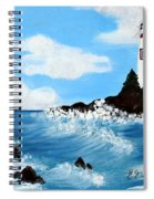 Lighthouse And Sunkers Spiral Notebook