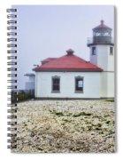 Lighthouse At Alki Beach Spiral Notebook