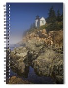 Lighthouse At Bass Harbor Maine Spiral Notebook