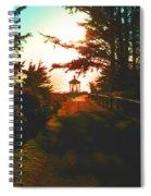 Lighthouse At Dusk Spiral Notebook
