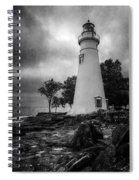 Lighthouse At Marblehead Spiral Notebook