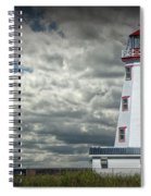 Lighthouse At North Cape On Prince Edward Island Spiral Notebook