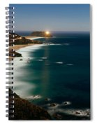 Lighthouse At The Coast, Moonlight Spiral Notebook