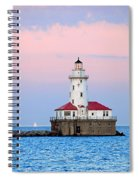 Lighthouse At The Navy Pier Spiral Notebook