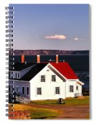 Lighthouse At West Quoddy Head Spiral Notebook