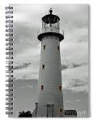 Lighthouse Bnw Auckland Spiral Notebook