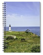 Lighthouse From Salal Hill Spiral Notebook