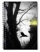 The Lighthouse Is Lit  Spiral Notebook
