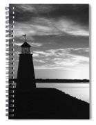 Lighthouse In Black And White Spiral Notebook