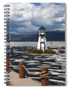Lighthouse In Lake Dillon Spiral Notebook