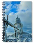 Lighthouse In Saint Joseph Michigan Spiral Notebook