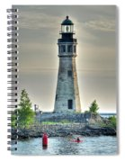 Lighthouse Just Before Sunset At Erie Basin Marina Spiral Notebook