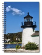 Lighthouse Mystic Seaport Spiral Notebook