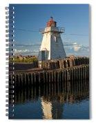 Lighthouse On A Channel By Cascumpec Bay On Prince Edward Island No. 095 Spiral Notebook