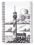 Lighthouse On A Cliff Bookmark Spiral Notebook