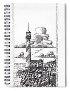 Lighthouse On A Cliff Pointillist Spiral Notebook