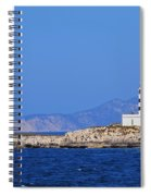 Lighthouse On Isla De Es Penjats Spiral Notebook