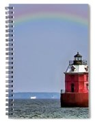 Lighthouse On The Bay Spiral Notebook