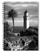 Lighthouse On The Bluff Spiral Notebook