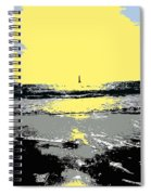 Lighthouse On The Horizon Spiral Notebook