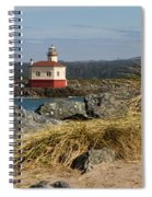 Lighthouse Over The Dunes Spiral Notebook