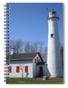 Lighthouse - Sturgeon Point Michigan Spiral Notebook