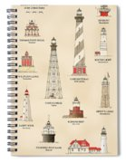 Lighthouses Of The East Coast Spiral Notebook
